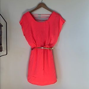 Dresses & Skirts - Neon Pink Dress with Belt